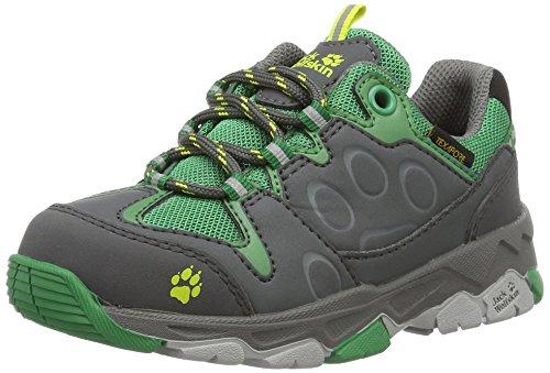Jack Wolfskin Unisex-Kinder MTN Attack 2 Texapore Low K Trekking-& Wanderhalbschuhe, Grün (Leaf Green), 36 EU (Care-boot Fabric)