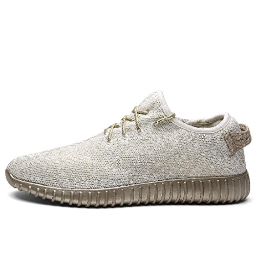 Hommes Chaussures de loisirs Respirant Lumière Appartement Accueil Chaussures décontractées Chaussures plates beige