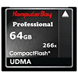 Komputerbay 64GB High Speed ​​Compact Flash CF 266X Ultra High Speed ​​Card 36MB/s Schreiben und 37MB/s lesen UDMA