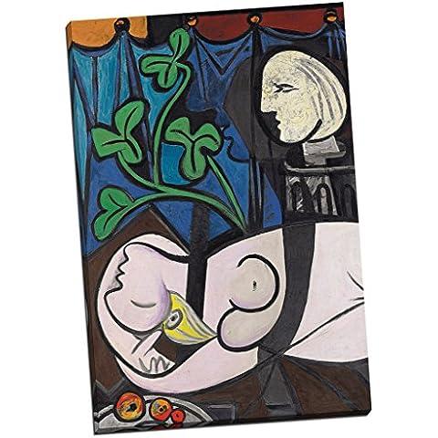 Pablo Picasso Nude hojas verdes y pecho impresión DE lienzo tamaño grande decorativo de fotos de madera de 30 x 50,8