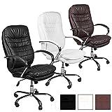 ESTEXO® Bürostuhl Drehstuhl Chefsessel schwarz weiß braun Schreibtisch Stuhl (Braun)