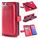 Hülle für Samsung S9 Plus, Xidan Damen Groß Kapazität Luxus Klassische Geldbörse aus PU-Leather Portemonnaie stilsichere Brieftasche für Samsung Galaxy S9 Plus