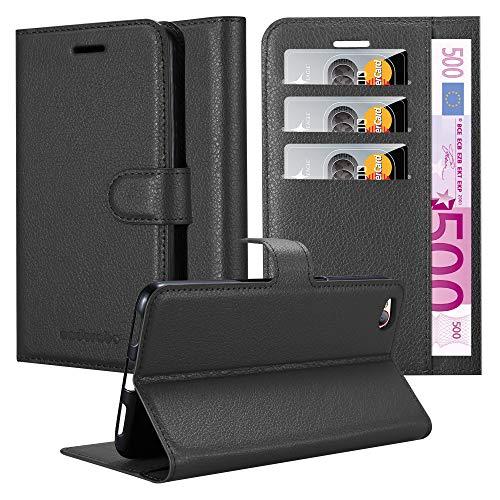 Cadorabo Hülle für ZTE Nubia N2 - Hülle in Phantom SCHWARZ - Handyhülle mit Kartenfach & Standfunktion - Case Cover Schutzhülle Etui Tasche Book Klapp Style