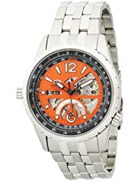 Orient de hombre cft00005m Potencia reserva semi-skeleton naranja reloj automático