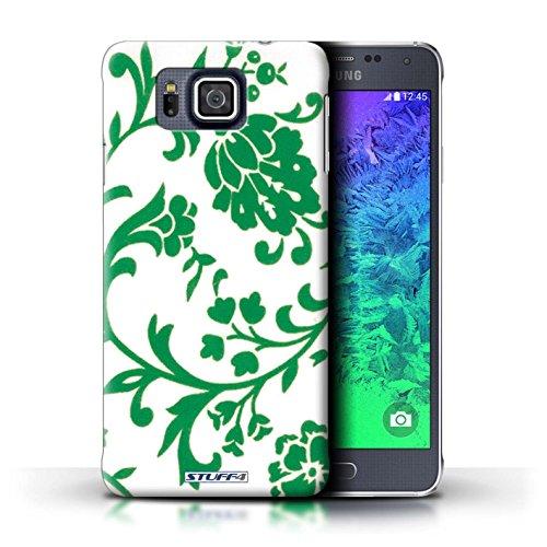 Kobalt® Imprimé Etui / Coque pour Samsung Galaxy Alpha / Fleurs Rose conception / Série Motif floral Fleurs Verte
