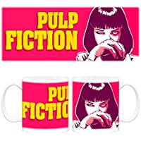 Taza Pulp Fiction Mia Wallace dibujo