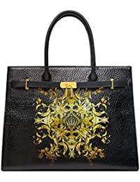 Luxury Shopper Handtasche L mit Reißverschlussfach Schwarz Harald Glööckler x9Vrl