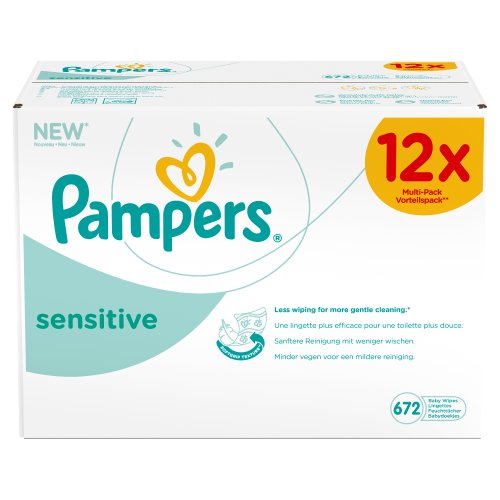 Pampers Feuchte Tücher Sensitive Vorteilspack Giga 12x, 1er Pack (1 x 672 Stück)
