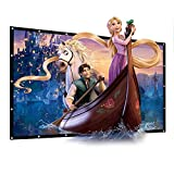 100' PVC Fabric Projector Screen 16 : 9 Portable Collapsible 4K Ultra HD Movie Screen 87'x49' Viewing Area Outdoor Indoor Home Cinema Theater Projection Screen(100 Inch Foldable PVC Fabric)