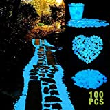 Cozzine Leuchtsteine Bright dekorative Steine, leuchtende Steine für Graten/Gehweg/Aquarium/Vase/Baum-Blumenbeete/Schwimmbad/Straße-Deko(100 Stück)
