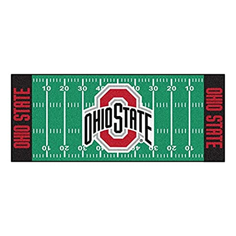 FANMATS NCAA Ohio State University Buckeyes Nylon Face Football Field Runner
