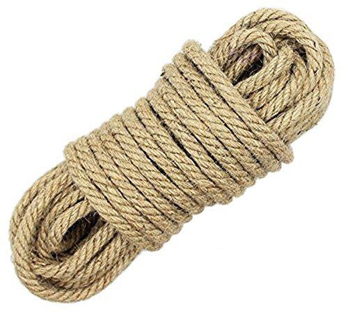 LUOOV 6mm Seil Jutegarn,100% natürliche Hanfseil Jute Seile, Garten-Schnur Baum-Kordel, für Kunst Handwerk, DIY, Dekoration, Geschenkverpackung,10m (32ft) -40m (128ft) (10m(32ft))