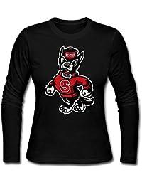 Womens NC State Wolfpack Mascot Long Slev Tee Tshirt XXXX-L