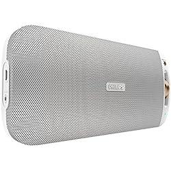 Philips BT3600W Enceinte Bluetooth portable sans fil avec Multipair, NFC, micro intégré, entrée audio, 10W, Blanc