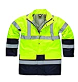 Dickies Hi-viz two-tone parka (SA7004) Saturn Yellow/ Navy XL