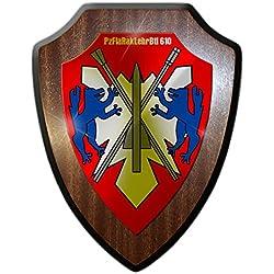 Escudo Cartel/pared Cartel-pzfl arakl ehrbtl tanque 610Defensa Aérea cohete Batallón Escudo insignia del Ejército Alemán heeresflug Fuerza de defensa nemátodos Pueblo # 18251