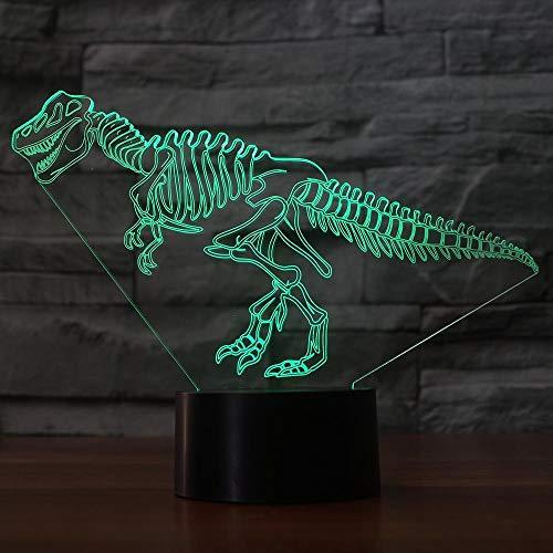 Zcmzcm 3D Nachtlichter Led Touch Button Usb 7 Farben Ändern 3D Dinosaurier Knochen Modellierung Kinder Spielzeug Geschenke Nachtlicht Tischlampe Schlafzimmer Beleuchtung Dekor