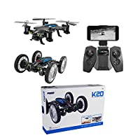 K20 RC Quadcopter Wifi FPV Drone,Flying Car Drone Gyro 2.4G Altitude Hold , Selfie Foldable RC Quadcopter with Altitude Hold [Easy to Fly for Beginner]