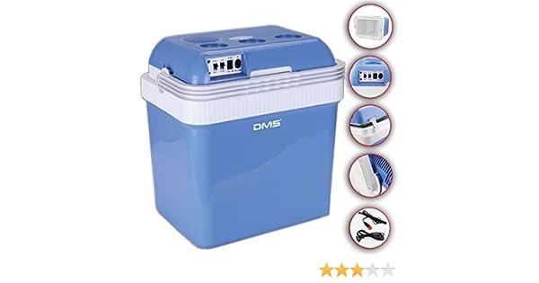DMS KB-25G Kühlbox Gefriertasche 25L Getränkebox Wärmebox 12-24V Grau MF418