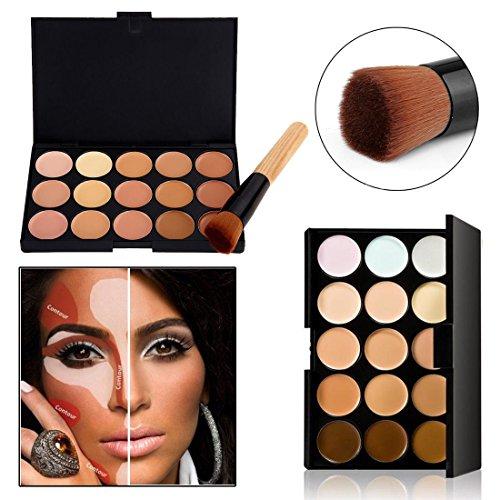 Boolavard 15 Farbe Concealer Palette Kit KOSTENLOS Bürsten Gesichts Make-up Form Creme