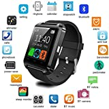 Mobilefit Bluetooth Smart Watch Phone (BLACK) With Touch Screen,Multilanguage,Android/Ios Mobile Phone Wrist Watch With Activity Trackers And Fitness & Supports Apps Like Facebook And Whatsapp Compatible for Nokia N900