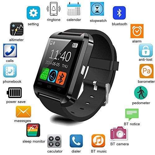 Mobilefit Bluetooth Smart Watch (BLACK) With Touch Screen,Multilanguage,Android/Wrist Watch With Activity Trackers And Fitness & Supports Apps Like Facebook And Whatsapp Mobilefit Bluetooth Smart Watch (BLACK) With Touch Screen,Multilanguage,Android/Wrist Watch With Activity Trackers And Fitness & Supports Apps Like Facebook And Whatsapp