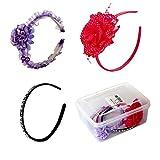 #7: Different designer hair bands, headband ( purple, pink, black)