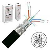 Set-Angebot:10 m HDMI Verlegekabel mit HDMI Testgerät, Leitungstester; HDMI Meterware ohne Stecker; HDMI Kabel für Selbstkonfektionierung; HDMI High Speed mit Ethernet