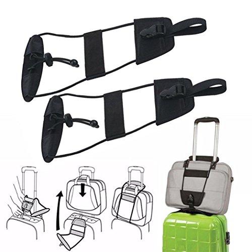 Koffer Gürtel, HARRYSTORE 2PCs Hinzufügen A Bag Strap Gepäck Koffer Einstellbare Gürtel Tragen Sie Bungee Reisebügel (Personalisierte Koffer)