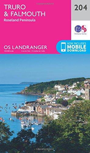 landranger-204-truro-falmouth-roseland-peninsula-os-landranger-map