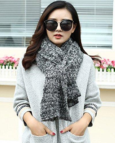 Écharpe d'hiver Femme à tricoter Couple Estudiant Couleur Mixer Bib Allongé épaississement Étudiant Châle ( couleur : 1# ) 1#