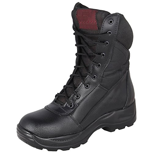 SSG Men's Black Leather Boots ( SSG_MLA_038_3 ) - 8