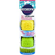 Ecozone Dryer Cubes, Tumble Dryer Balls - new softer material with variable node design. Pack of 2