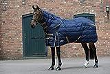 Weatherbeeta Comfitec- Coperta medio peso per cavalli con collo staccabile (5 ft - 152 cm) (Blu/Dorato)