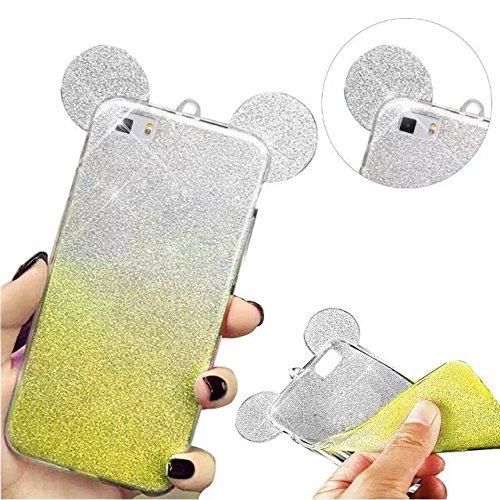 MOMDAD-Tpu-funda-Oreja-case-para-Huawei-P8-Lite-Shell-ultra-delgado-suave-Funda-Pattern-Case-Back-plata-Cover-cubierta-de-parachoques-Oreja-carcasa-silver