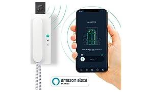 nello one | Smarter Türöffner |WLAN Upgrade für deine Gegensprechanlage |ideale Ergänzung für Smart Lock | für iPhone und Android | mit Amazon Alexa Skill