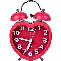 GAOHL Sonido despertador en forma de corazón escritorio reloj Digital estéreo Bell , red