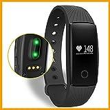 Braccialetto Fitness,Bluetooth braccialetto Smart smart band frequenza cardiaca Monitor Wristband Fitness Tracker remota fotocamera per Android iOS