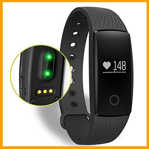 Braccialetto Fitness,Bluetooth braccialetto Smart smart band frequenza cardiaca Monitor Wristband Fitness Tracker remota fotocamera per Android iOS