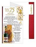 Simon Elvin Geburtstagskarte zum 75. Geburtstag,