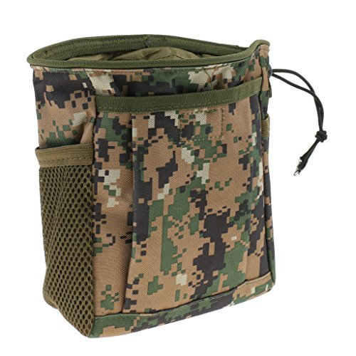 FLAMEER Nylon Taktische MOLLE Drawstring Magazine Dump Drop Tasche Tasche Outdoor - Woodland Digital Camo -