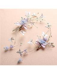 Couronne de coiffure de mariée, ornements de cheveux en soie, couronnes de cheveux faites à la main, accessoires de guirlande de mariage
