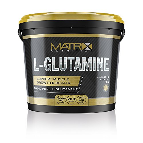 51LRSr4aI6L. SS500  - Matrix Nutrition Pure 1KG L-Glutamine Powder - Muscle Size & Strength - Recovery & Health.