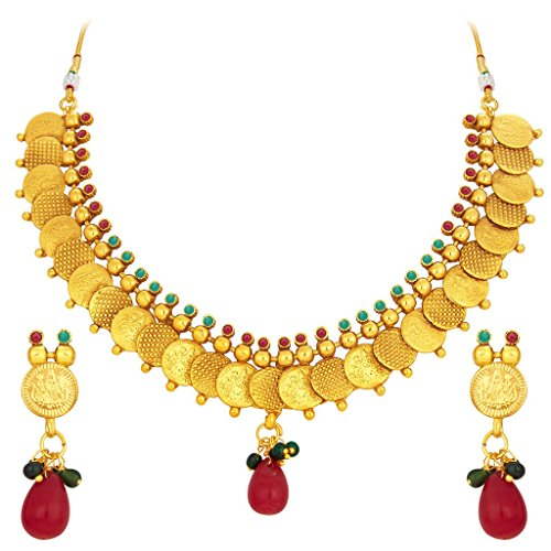 South Indian Traditional Wedding Jewellery Set Crafted Laxmi Temple Coin Gold Plated Necklace Set for Women Designer Heavy Ethnic Jwellery Set