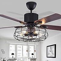 Deckenventilator Semi Integrated Deckenleuchte Vintage Retro Fan  Kronleuchter Kronleuchter 5 Lichter Für Restaurant, Wohnzimmer