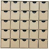 Décopatch - HD018O - Etagère de 25 Petits Tiroirs, 5 x 25 x 25 cm