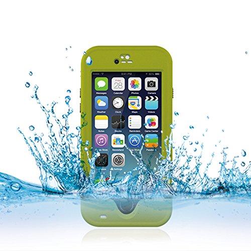 Cuitan Wasserdicht Schutzhülle Hülle für Apple iPhone 6 Plus (Schwarz), Multi-Layer-Hybrid TPU + PC Schutzhülle Rückseite Handyhülle mit Ständer Design Bumper Case Cover Shell für iPhone 6 Plus Hellgrün