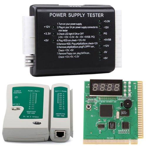 HDE PC und Netzwerk Test Kit - POST Mainboard analysiert das, Netzwerkkabeltester & Netzteiltester