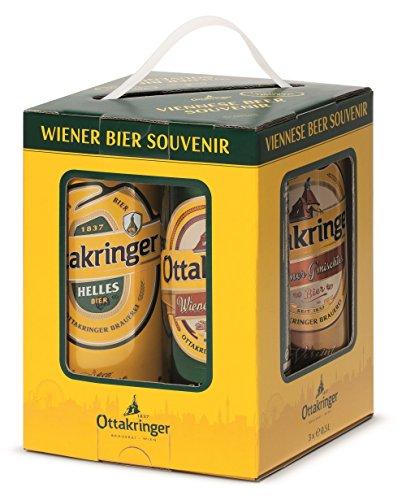 Ottakringer Wiener Bier Souvenir (3x 0,5l und ein Verkostungsglas)