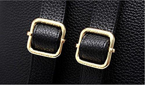MOGOR , Sac à main porté au dos pour femme rouge Pink M moyen Black M